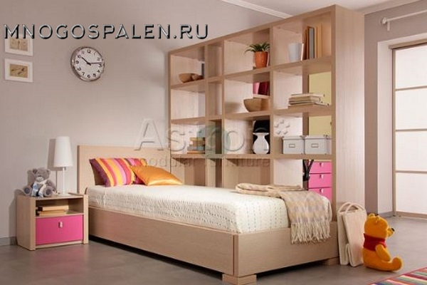 Детская кровать  (90×200 см) As28.57 Астрон купить в салоне-студии мебели Барселона mnogospalen.ru много спален мебель Италии классические современные