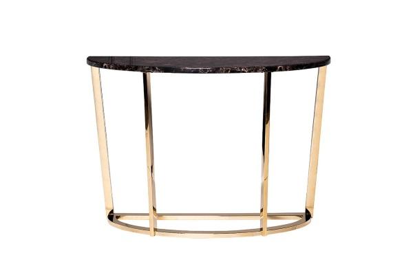 Консоль искусственный коричневый мрамор/золото 33FS-CST20С05-PG купить в салоне-студии мебели Барселона mnogospalen.ru много спален мебель Италии классические современные
